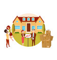real estate property happy couple buying new vector image vector image