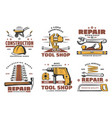 repair and construction work tools sketch vector image vector image