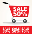 Sale cart set vector image