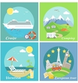 Set Concept Vacation Camping Cruise vector image vector image