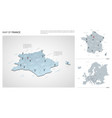 set france country isometric 3d map france map vector image