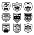 set of vote labels For presidential vector image vector image