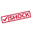 Shock rubber stamp vector image vector image