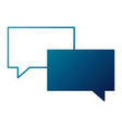 speech bubble message talk chat icon vector image vector image