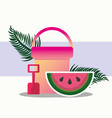 summer time tropical vector image