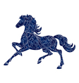 Symbol of Year 2014 blue horse isolated icon vector image