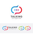 talking logo vector image vector image