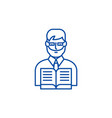 teacher line icon concept teacher flat vector image vector image