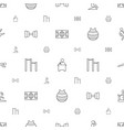 training icons pattern seamless white background vector image vector image