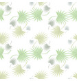 tropical motive palm leaves seamless floral vector image vector image