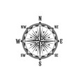 vintage compass symbol and sign vector image