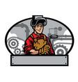 welder and welding tools vector image vector image
