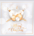 winter holidays postcard merry christmas card vector image