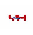 Y and H logo vector image vector image