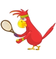Funny Parrot Tennis vector image