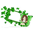Greeting Card to St Patricks Day vector image