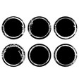 black and white grunge stamp insignia round vector image
