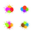 colorful paint splash set vector image