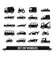 Set of vehicles Cars icons set Transport icons vector image