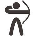 2294 Archery icon vector image vector image