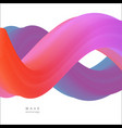 abstract tech spiral 3d wave background vector image