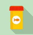 aquarium fish food icon flat style vector image