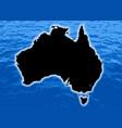 australia outline vector image vector image