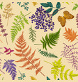 autumn floral seamless pattern vector image vector image