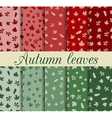 Autumn leaves seamless pattern set vector image vector image