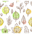 autumn seamless pattern with falling leaves vector image vector image
