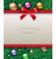 background with bow and tree vector image