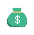bag money invest business finance vector image