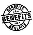 benefits round grunge black stamp vector image vector image