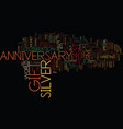 best silver anniversary gift if youre broke text vector image vector image