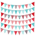 Bunting Banner set vector image vector image