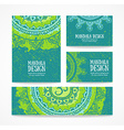business card vintage decorative elements hand vector image