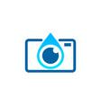 camera water logo icon design vector image vector image