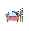 car washer rgb color icon vector image