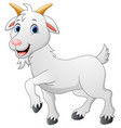 cartoon goat character vector image vector image