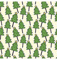 christmas trees seamless pattern wrapping vector image vector image