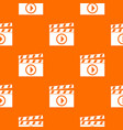 clapperboard for movie shooting pattern seamless vector image vector image