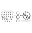 collection of hand written alphabet vector image vector image