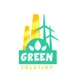creative eco energy logo design template with vector image vector image