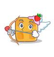 cupid waffle character cartoon design vector image vector image