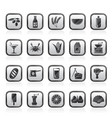 different kind of food and drinks icons 3 vector image vector image