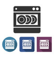 dishwashing machine icon in different variants vector image vector image