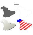 Douglas Map Icon Set vector image vector image