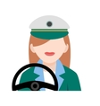 Driver Female vector image vector image