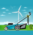 electric lawn mover vector image vector image