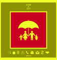 family under umbrella - family protect icon vector image vector image